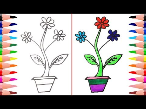 How To Draw Simple Flower Step By Step Flower Drawing Ideas Easy Drawing For Kids Youtube