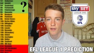 MY LEAGUE 1 2019/20 TABLE PREDICTION!