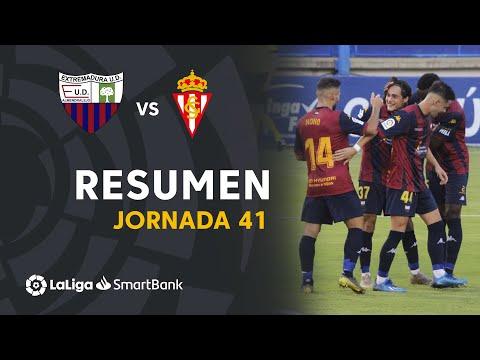 Extremadura UD Gijon Goals And Highlights