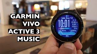 Garmin Vivo Active 3 Music Review Ciclismo, correr y nadar