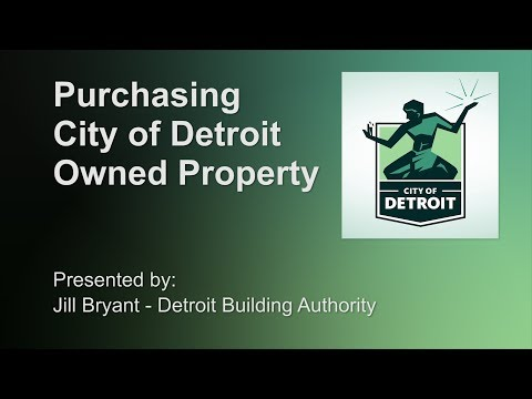 Purchasing City Of Detroit Owned Property