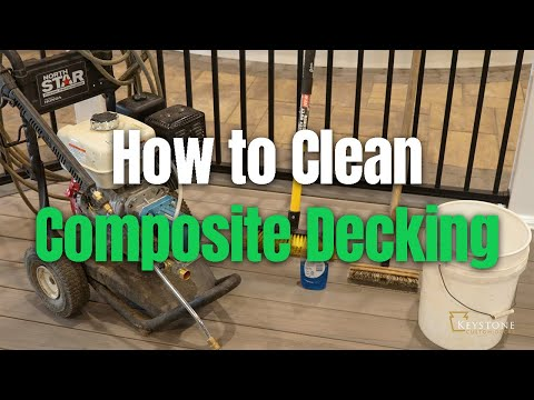 HOW TO Clean Composite Decking | Can You POWER WASH Composite Deck?