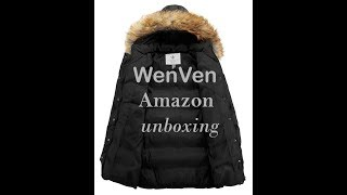(EPISODE 2293) Amazon Prime Unboxing: WenVen Women's Winter Puffer Coat Trim Removable Hood  @amazon