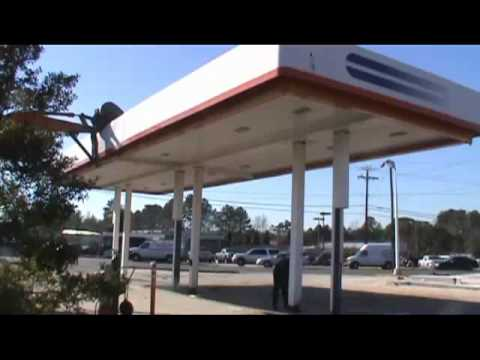 Gas Station Fuel Canopy Demolition & Gas Station Fuel Canopy Demolition - YouTube