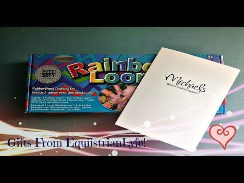 Rainbow Loom Unboxing! - Gifts From My BFF  | MissCraftiliicous