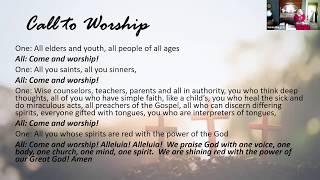 Sunday Service   May 31st, 2020