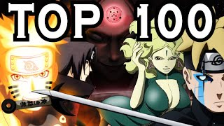 NARUTO / BORUTO TOP 100 strongest characters