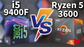 INTEL I5 9400F vs RYZEN 3600 - Teste em Jogos (FULL HD) - RTX 2070 SUPER
