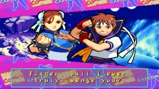 Marvel Super Heroes VS Street Fighter - Sakura/Chun-Li - Expert Difficulty Playthrough