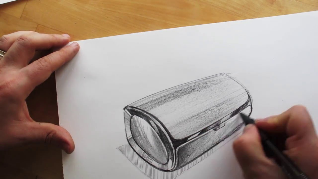 How to draw product design sketching bluetooth speaker design youtube