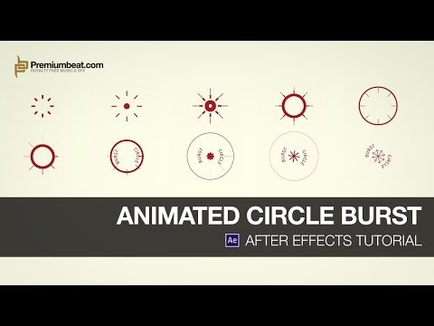 After Effects Tutorial: Animated Circle Burst - YouTube