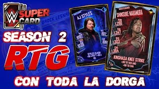 CON TODA LA DROGA | ROAD TO GLORY NAKAMURA | WWE SUPERCARD S2 | Chorly