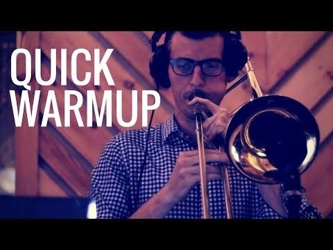how to do a quick trombone warmup / playalong with Nick Finzer