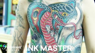Cleen Rock One's Winning 35 Hour Master Canvas | Ink Master: Grudge Match (Season 11) screenshot 2