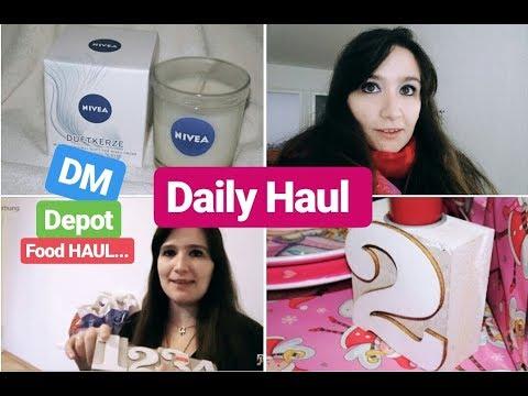 Daily Haul| Food Haul| DM & Depot| Was ich über den Tag so alles einkaufe