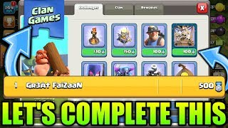 LET'S PLAY THE CLAN GAMES! WINTER UPDATE CLASH OF CLANS•Future T18 LIVE