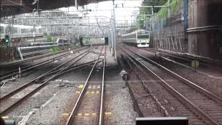 【HD】京浜東北線 線路切換日 品川折返し電車 前面展望 thumbnail