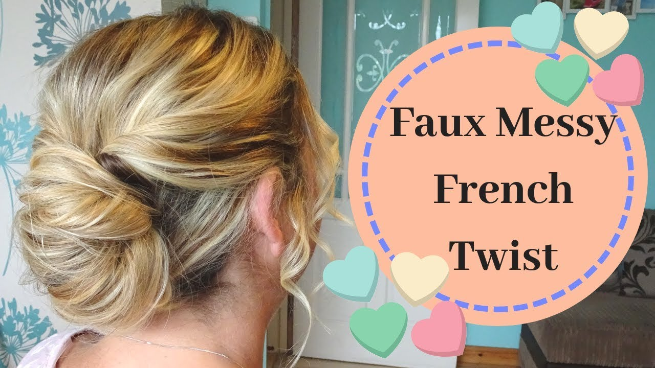Easy Messy french twist hair tutorial - How to french pleat hair