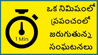 What Happens in One Minute in Telugu | What Happens in 60 Seconds | Telugu Badi