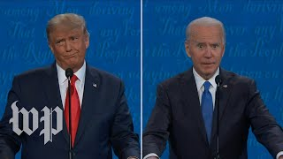 Eye rolls and head shakes replace interruptions in the final presidential debate