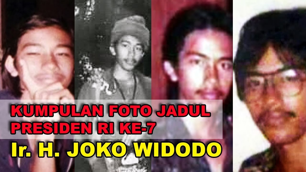 Koleksi Foto Jadul Presiden Joko Widodo Dari Tampang Culun ROCKER