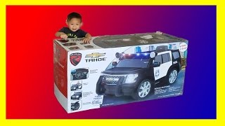 Unboxing & Assembling Rollplay Chevy Tahoe Police SUV Car 6 Volt Battery Powered Ride On
