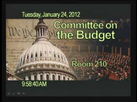2012-001 Markup: Jan. 24, Misc. Budget Process Reform Legislation  [ID: 103880]