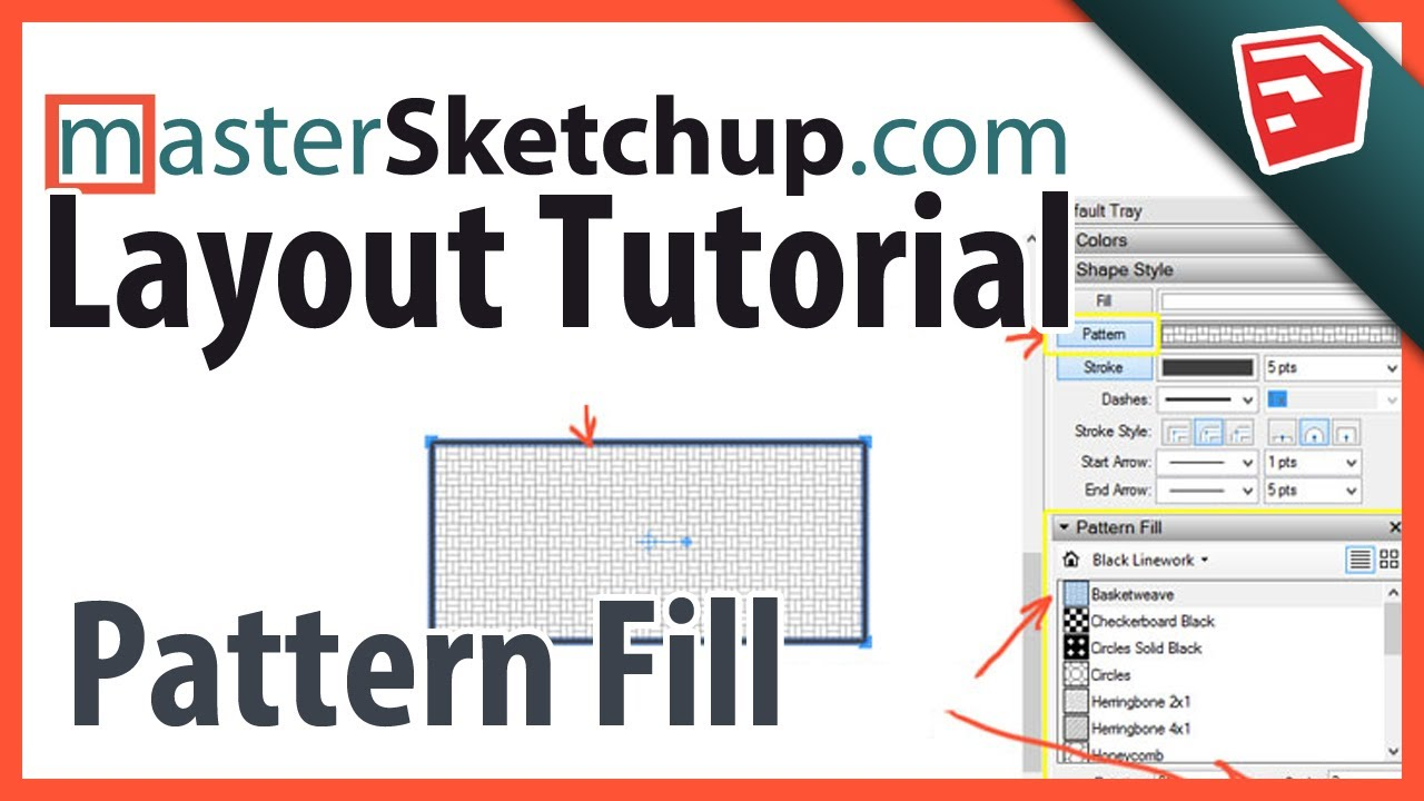 Layout Pattern Fill & Hatching - MasterSketchup com