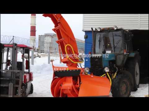 Установка снегоочистителя на трактор МТЗ