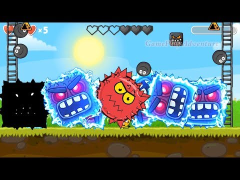 Red Ball 4 : All Shape Of Bosses Volume 5 ' Fusion Battle ' with Black ball, C.Orange ball, Red ball |