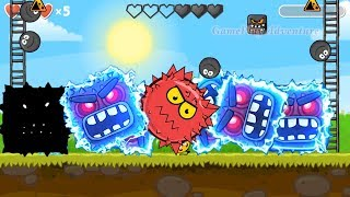 Red Ball 4 : All Shape Of Bosses Volume 5 ' Fusion Battle ' with Black ball, C.Orange ball, Red ball