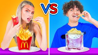 HOT vs COLD FOOD CHALLENGE w/ Sommer Ray & Alissa Violet