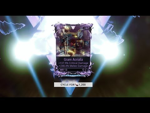 Warframe Gram Riven Vs Galatine Prime Level 150 Corrupted