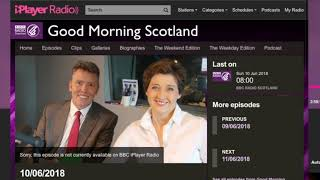 BBC Good Morning Scotland - Charles MacLean interview
