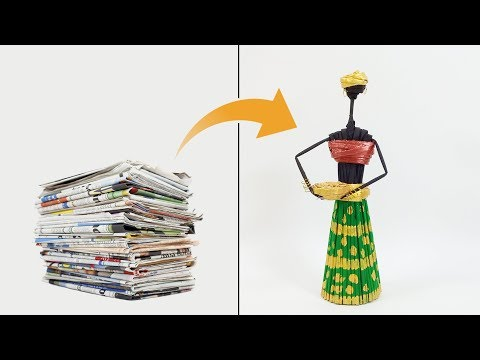 How to Make Tribal Doll | Newspaper Craft | Crafts Junction