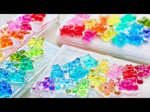 【レジン】くまグミ大量生産🐻100均の小物収納ケースにデコレーション【カラフル】DIY Gummy Bear  Accessory Cases/Resin