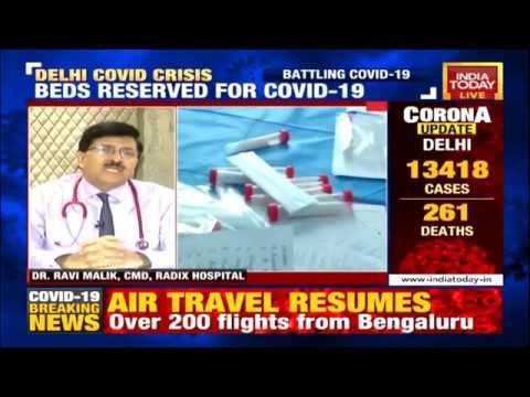 Coronavirus disease : Dr Ravi Malik, CMD-Radix Healthcare, Nirman Vihar, Delhi at India Today LIVE