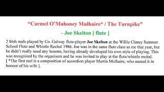 Joe Skelton - [flute] : Carmel Mahoney Mulhaire / The Turnpike - 1986