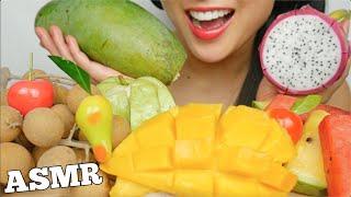 ASMR TROPICAL FRUITS LUK CHUP (SATISFYING EATING SOUNDS) NO TALKING | SAS-ASMR
