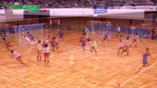 H26年 第23回JOCハンドボール大会茨城VS岡山(ダイジェスト)(女子決勝トーナメント1回戦)