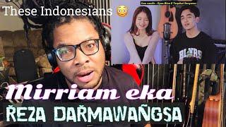 Download lagu GIVE ME MORE OF THESE INDONESIANS - REZA  Darmawangsa vs MIRRIAM EKA SING OFF (REACTION)