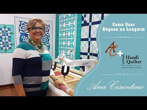 Ana Cosentino - Handi Quilter - Vídeo 8.1 Como usar réguas numa máquina Longarm
