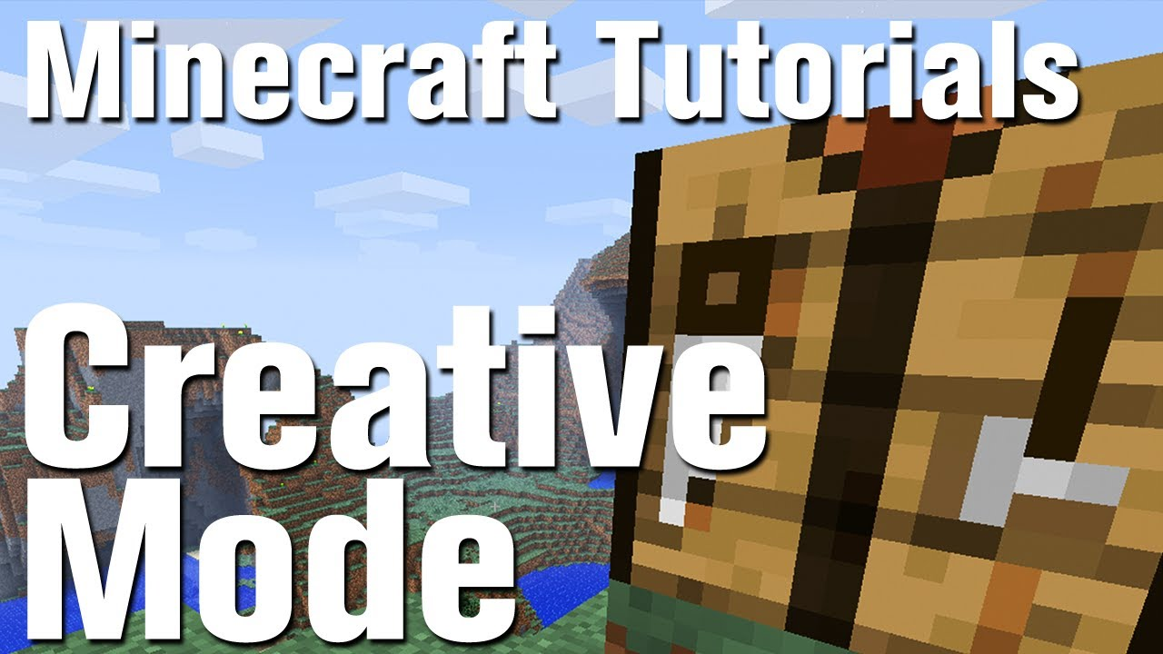 minecraft tutorial how to use creative mode in minecraft youtube rh youtube com Minecraft Sword Build Minecraft Beginners Handbook
