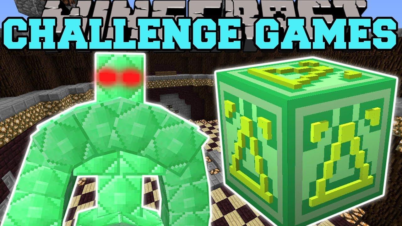Minecraft: GIANT EMERALD GOLEM-HERAUSFORDERUNGSSPIELE - Lucky Block Mod - Modifiziertes Minispiel + video