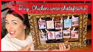 D.I.Y. Chicken wire photo frame - Porta foto fai da te con rete metallica | Giugizu