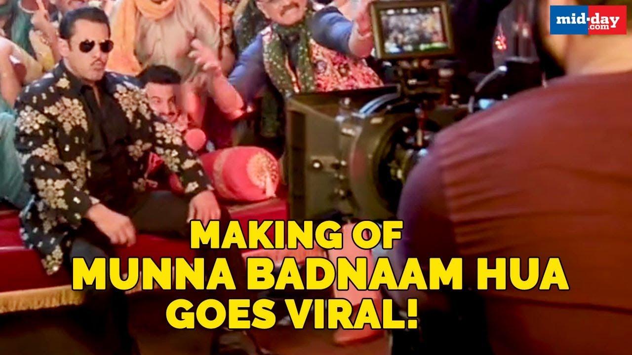 Dabanng 3 song Munna Badnaam Hua making goes viral