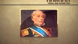 Historia y Tiempo - 6 de mayo de 1873 - Fallece José Antonio Páez