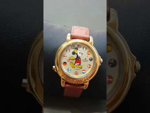 Mickey mouse musical watch