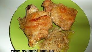 Вкусно и просто: рецепт приготовления курицы в духовке.Пошаговый рецепт с видео.