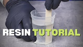 How to use Epoxy Resin For Beginners (Resin Tutorial) / RESIN ART